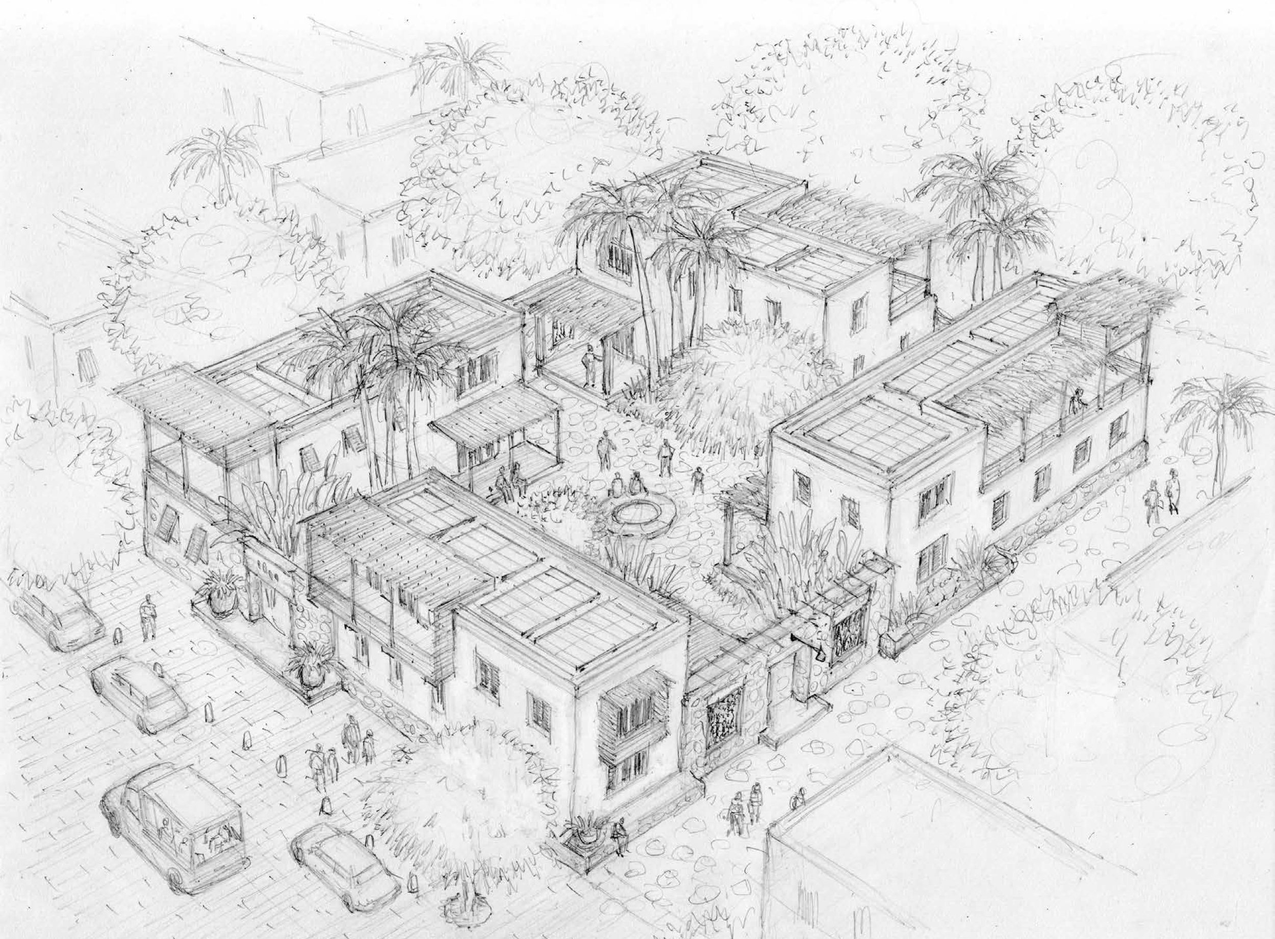 Residential Homes (Design and Drawing by Chris Ritter)