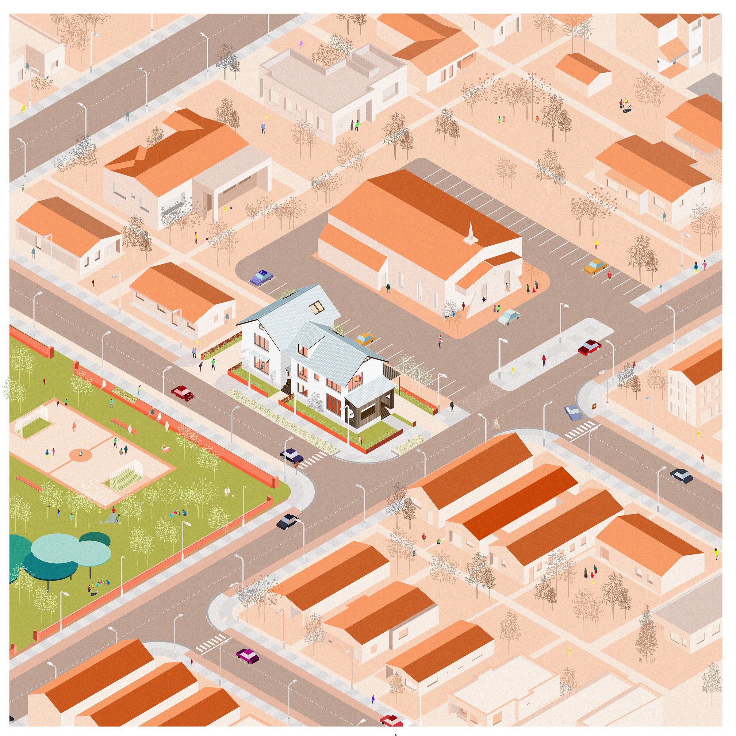 Isometric View of the Neighborhood Context