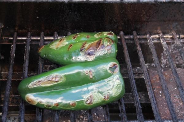 Poblanos I Grilled on Monday for Salsa Verde.