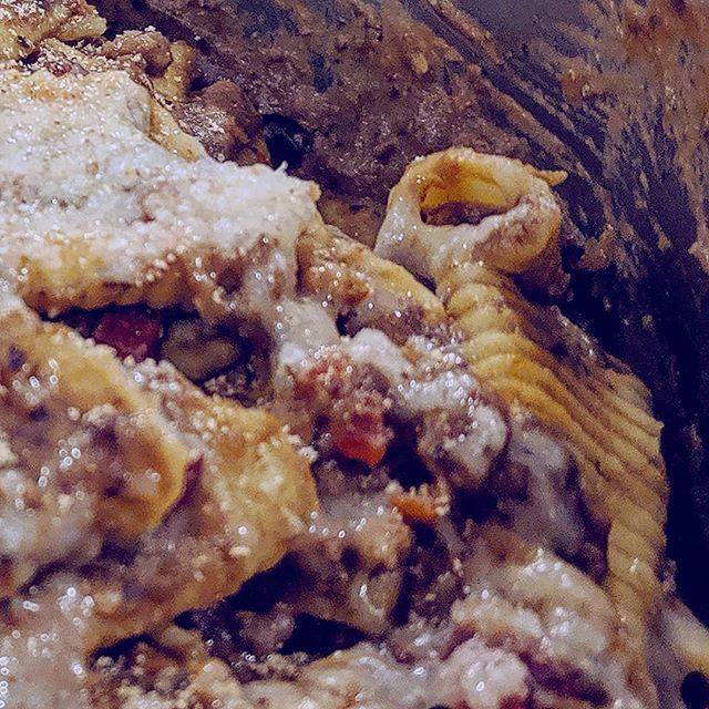 Eggplant ragu garganelli. #yum #dinnertonight #pastafresca #eggplant