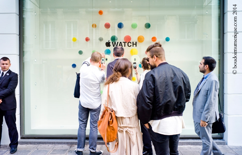 30 septembre 2014, Paris : présentation de l'Apple Watch chez Colette