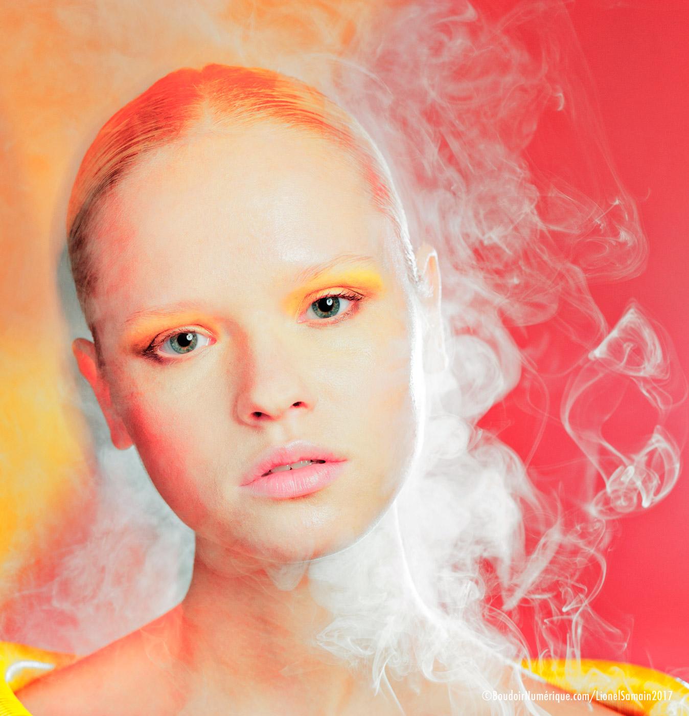 """""""Purunpurun on the go"""" by Le Boudoir Numérique. Photographer : Lionel Samain. Makeup artist : Mathieu de Mayer with Dior Makeup and Bumble & Bumble. Model : Natalia M. at DMG."""