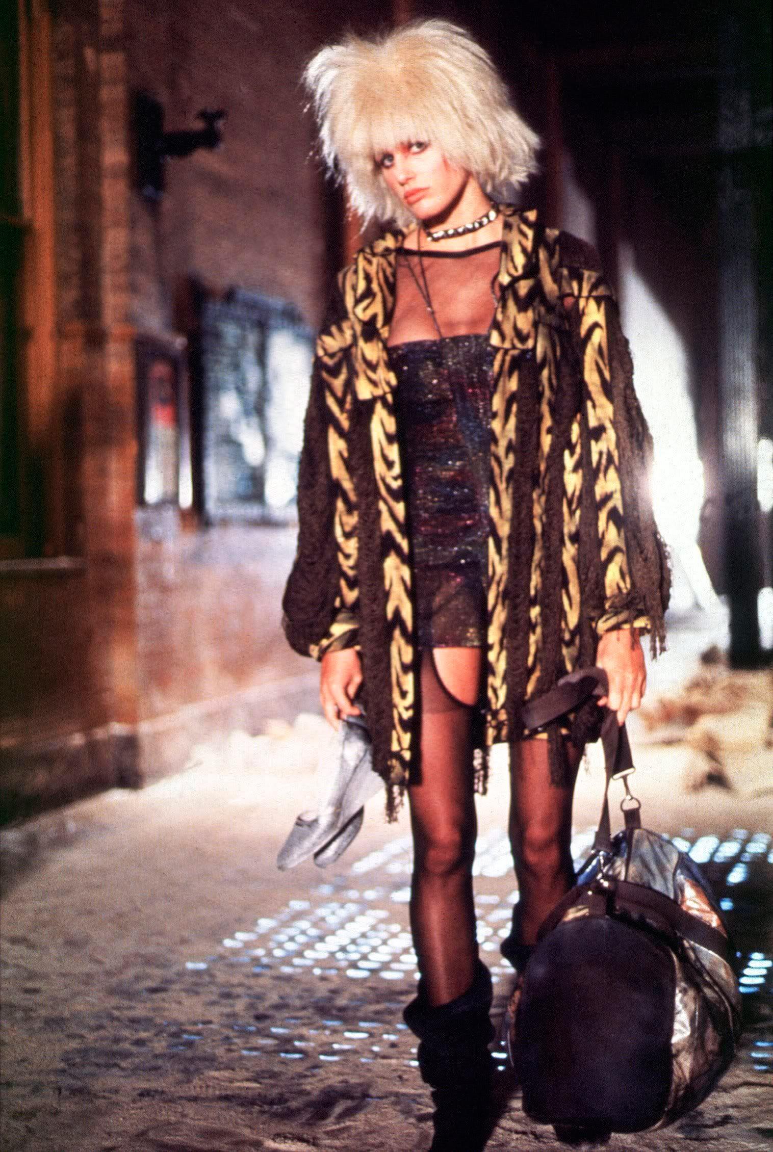 La réplicante Pris (Daryl Hannah) est un adorable vilain jojo, dans le film Blade Runner de Ridley Scott (1982)