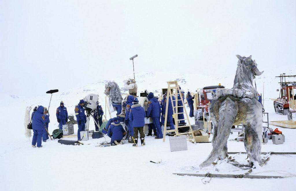 Tournage de L'Empire contre-attaque, en Norvège, en 1979 (©Starwars.com)