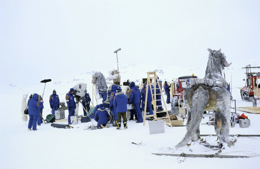 Shooting of The Empire Strikes Back, in 1979, in Norway (©Starwars.com)