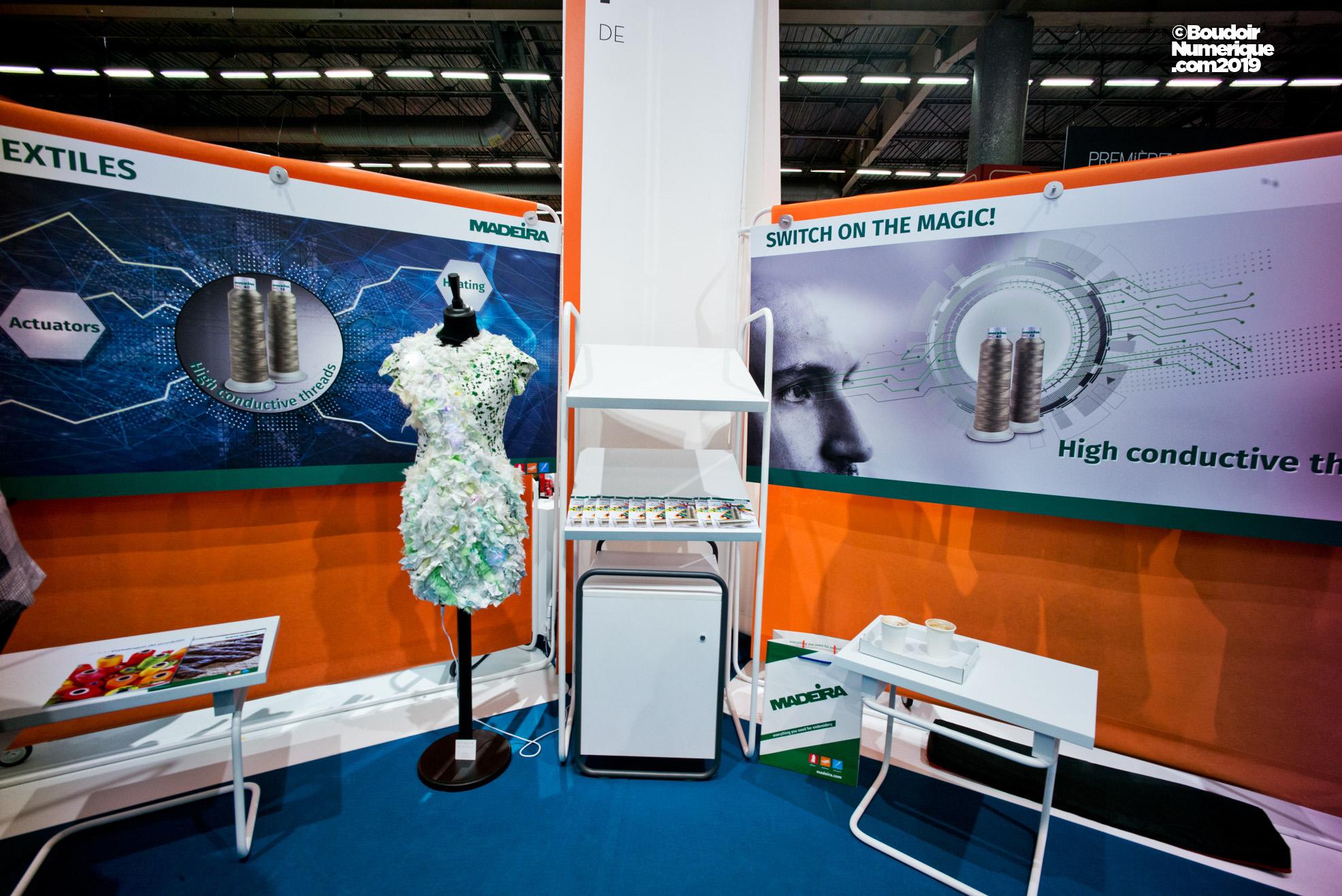 La société allemande Madeira GarnFabric propose des fils conducteurs d'électricité pour e-textile.