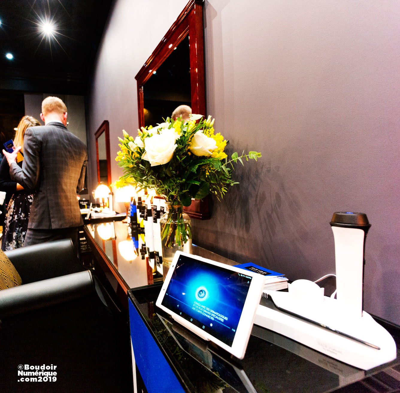 Hair Rituel Analyzer, new connected device presented by Hair Rituel by Sisley, on January 30, 2019, at Salon Séguier, in Paris.