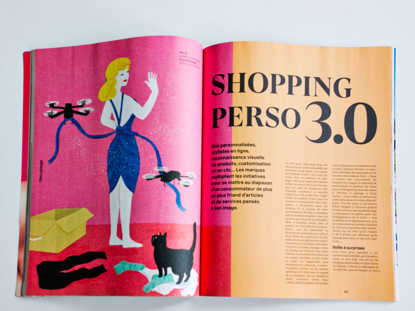"Paper ""Shopping perso 3.0"" in belgian magazine Le Vif Weekend from 21 March 2019"