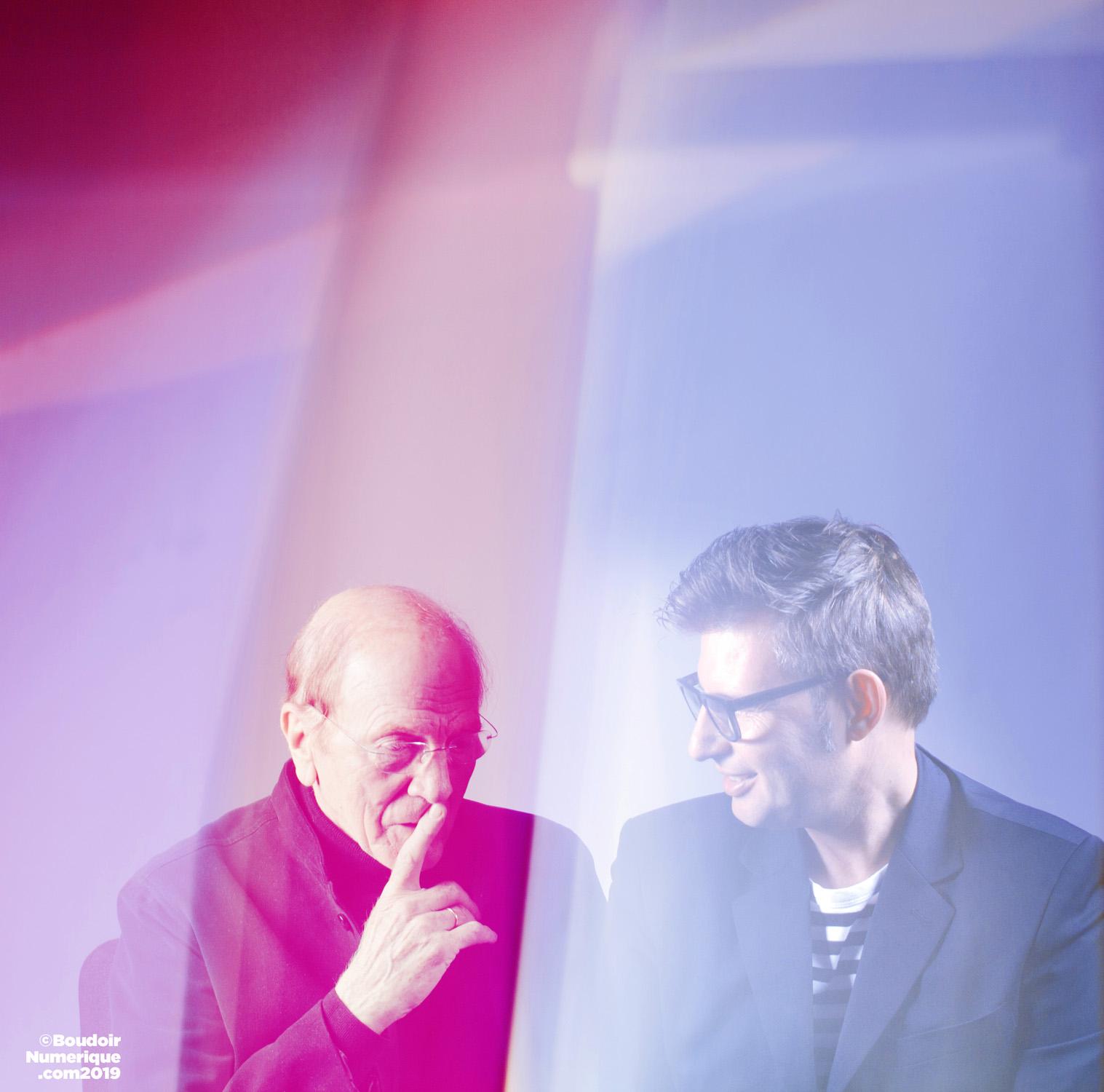 Sébastien Canu et Gérard Caron, designers