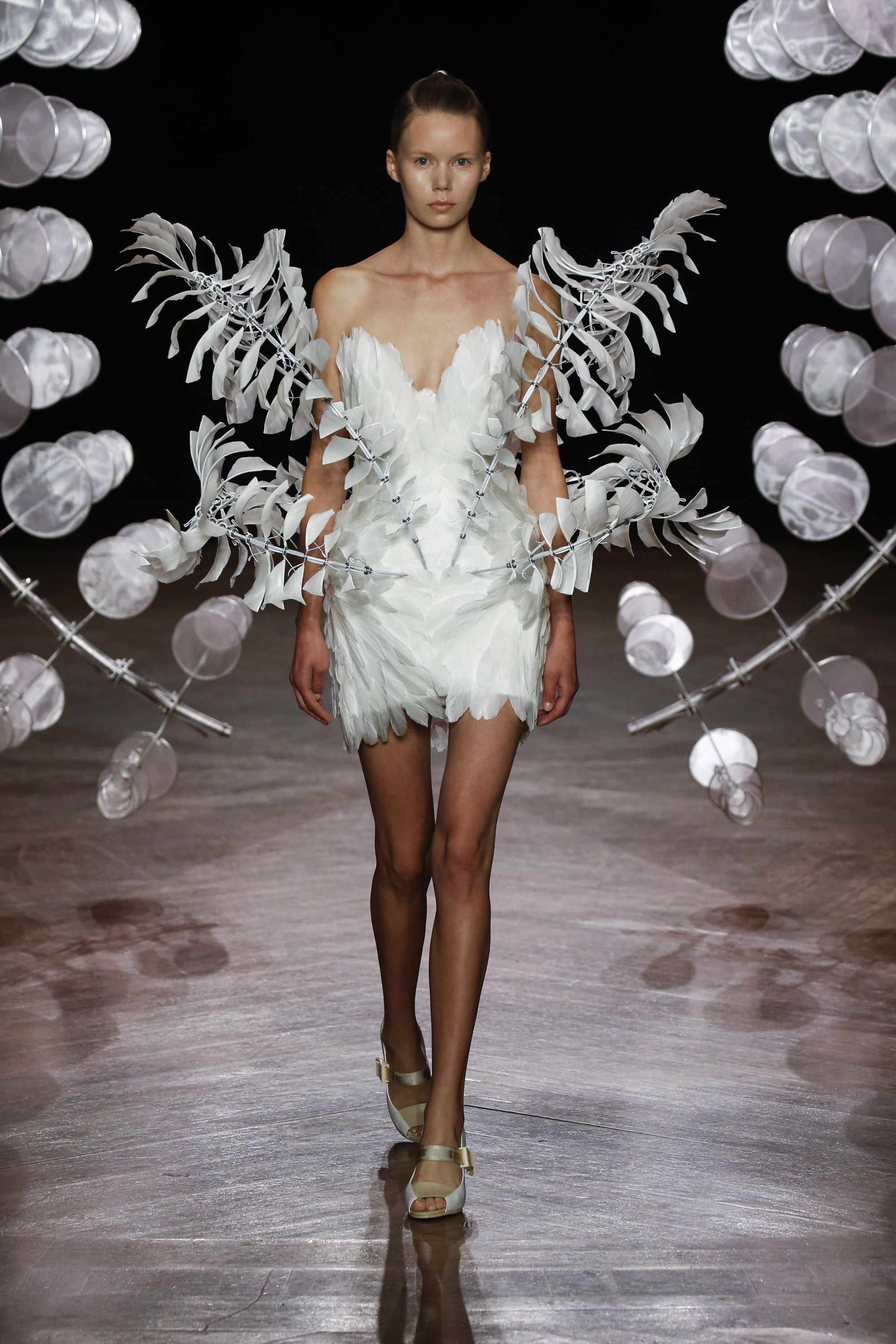 Infinity Dress from Iris van Herpen's Hypnosis collection, Fall-Winter collection 2019 – 2020, shown in Paris, July 1st, 2019 (picture : courtesy of Iris van Herpen)