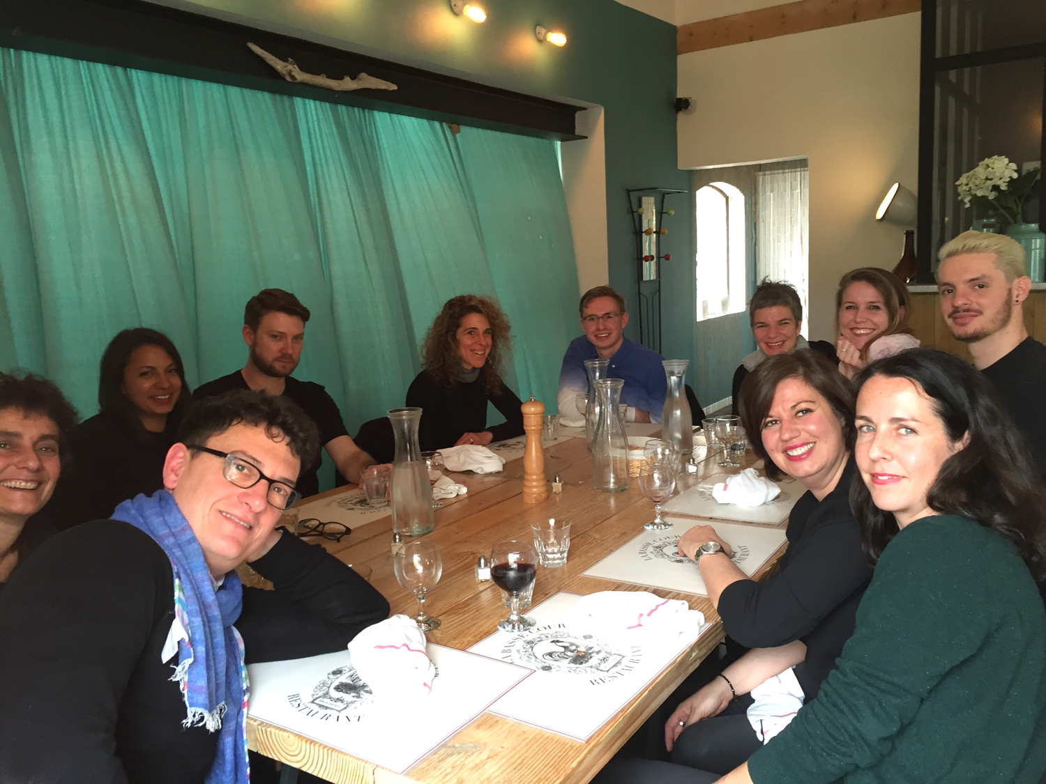 Lunch with all the workshop leaders and school director