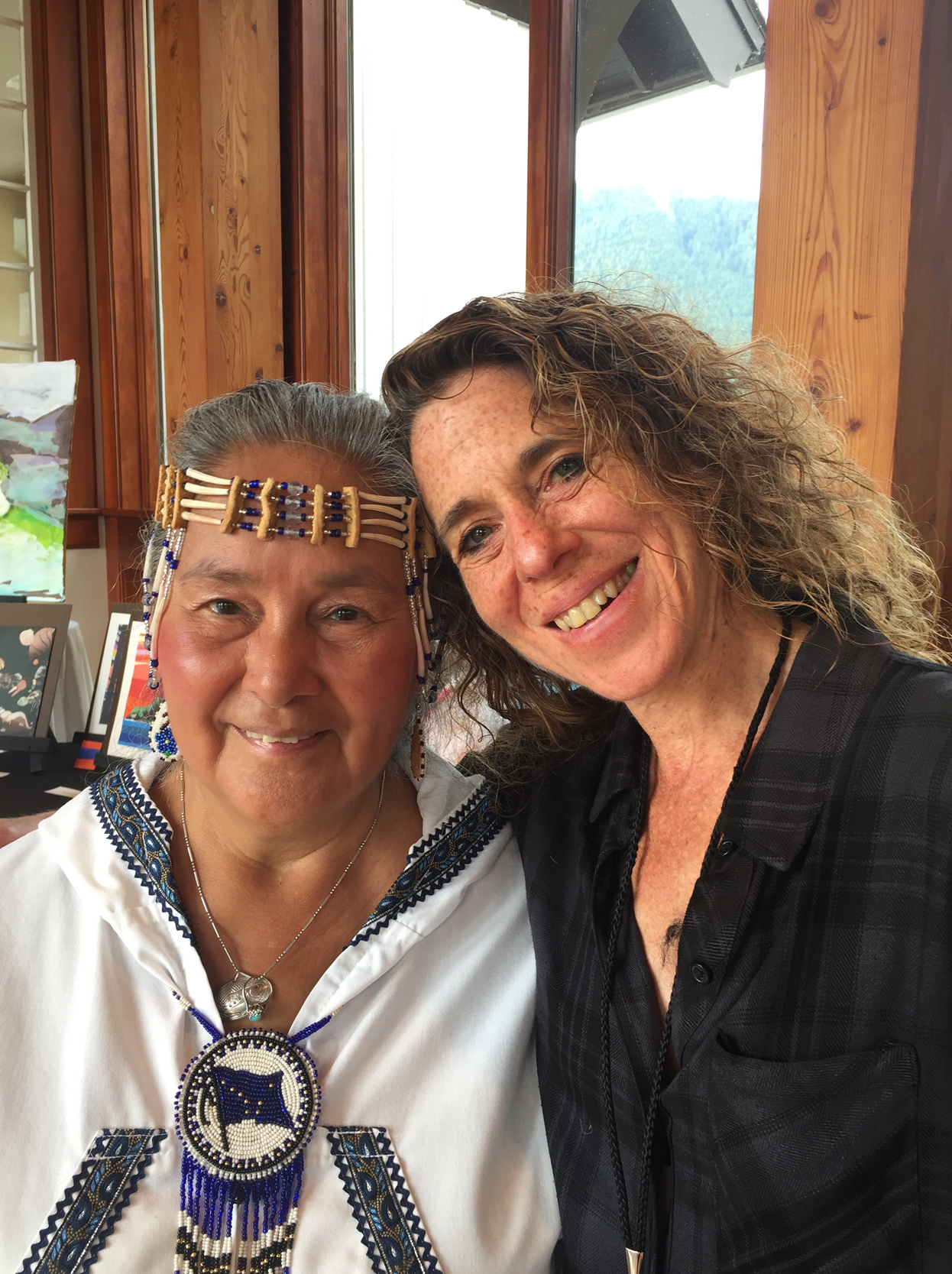 I had the honor of meeting fellow instructor, Audrey Armstrong, born in the village of Galena, Alaska, Audrey teaches the traditional Alaskan art form of fish skin sewing.