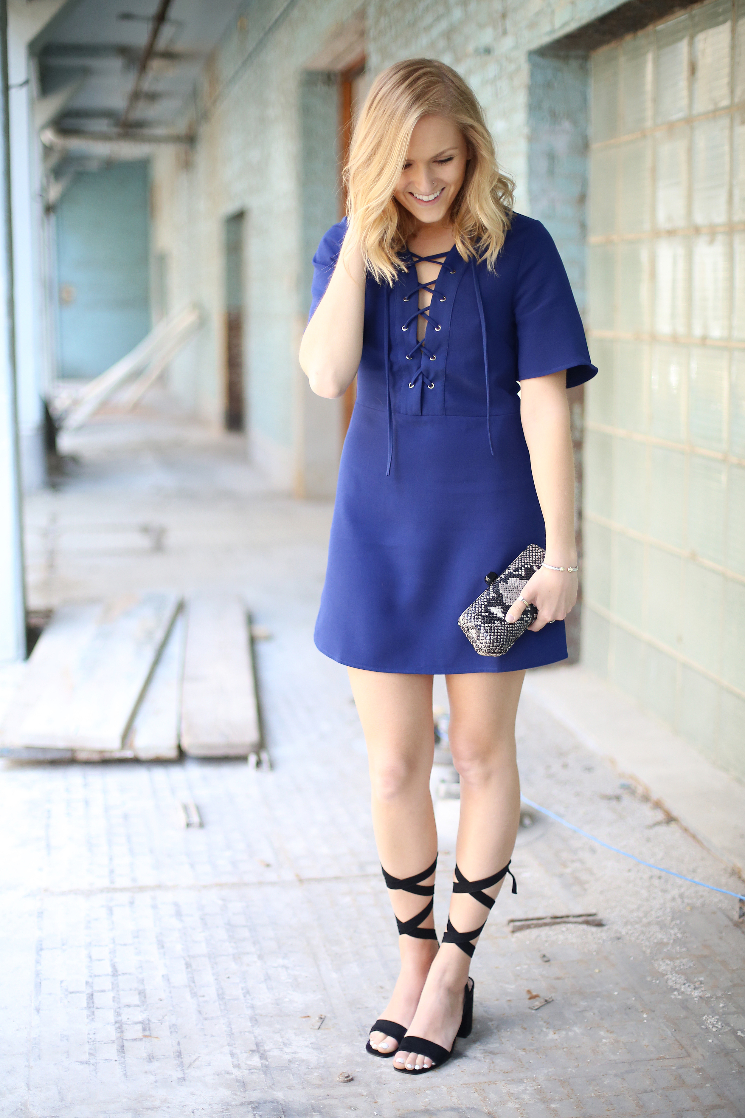 laced up dress