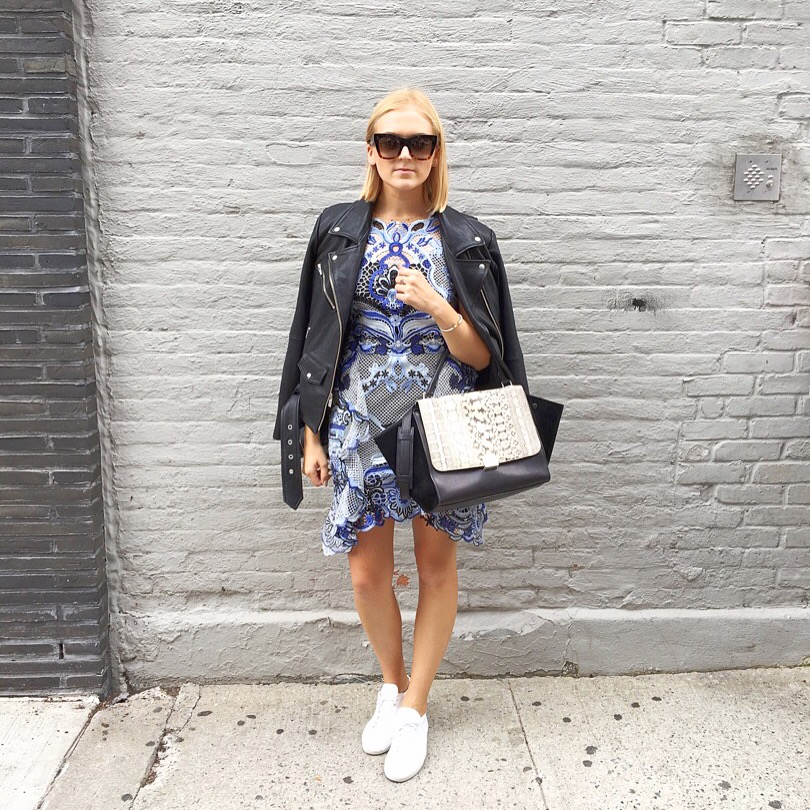 Dress:  Kobi Halperi n Jacket:  Veda  Shoes:  Common Projects  Sunglasses and bag: Céline