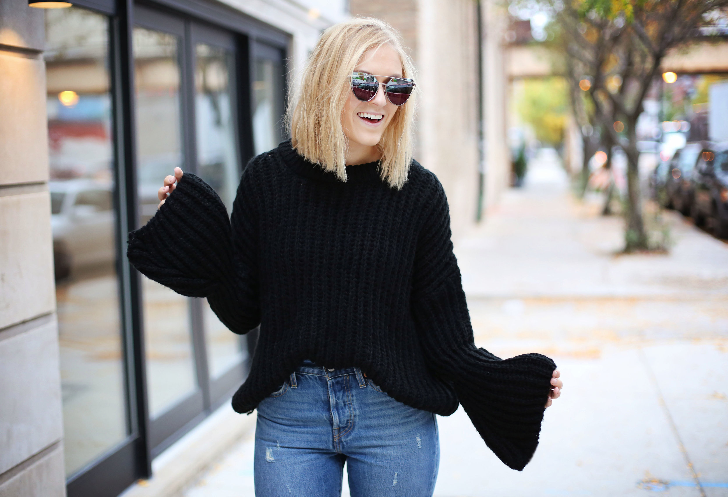 bell-sleeved-sweater