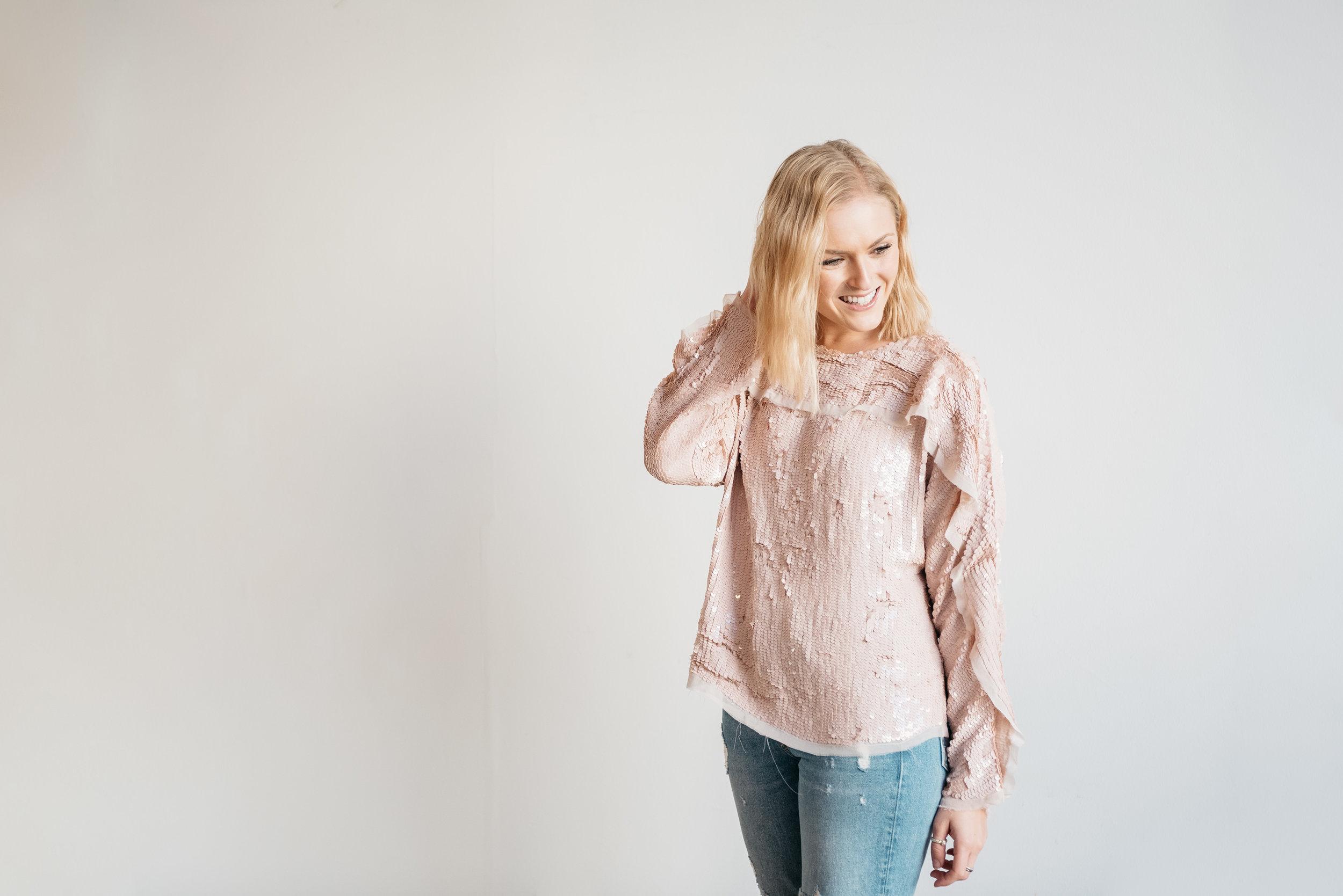 pink-sequined-top