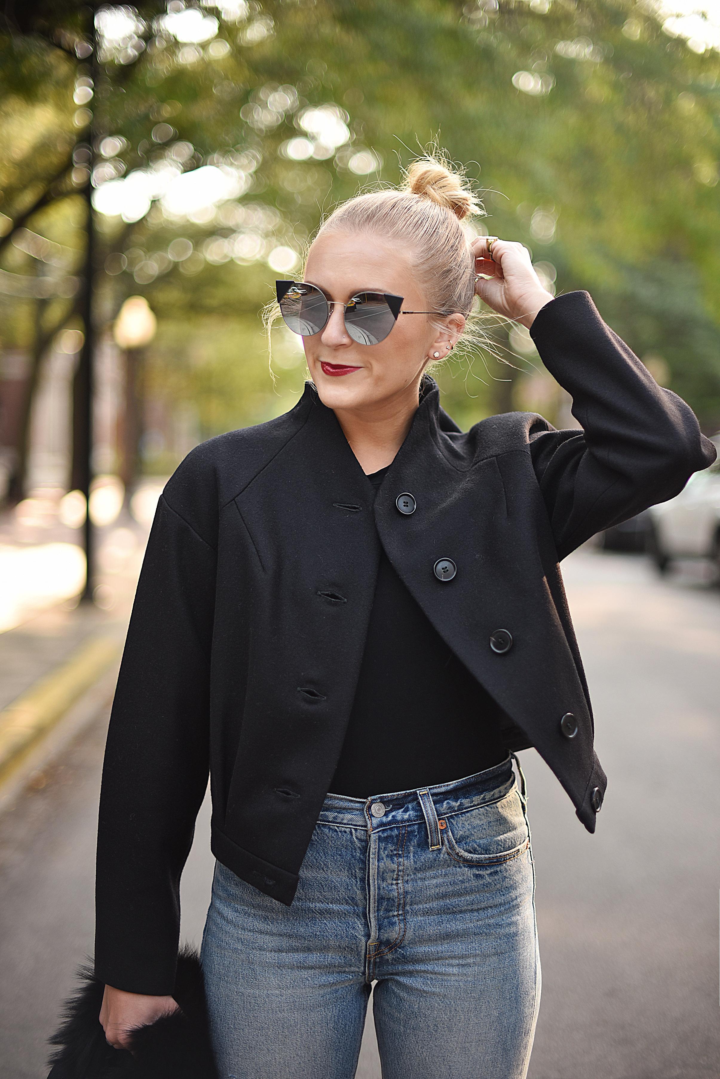 wool bomber jacket fall season