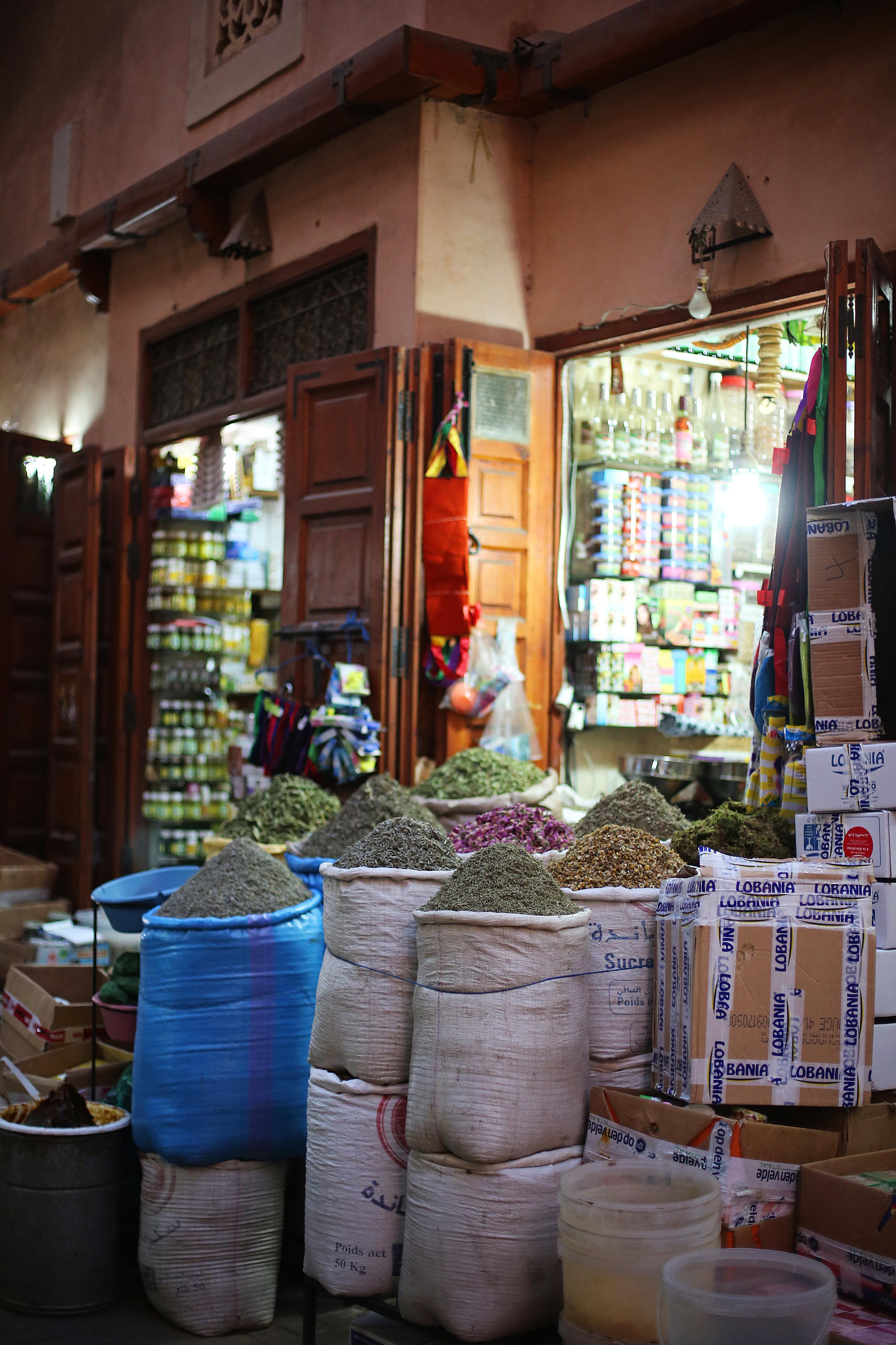 Traveling Morocco Market Street