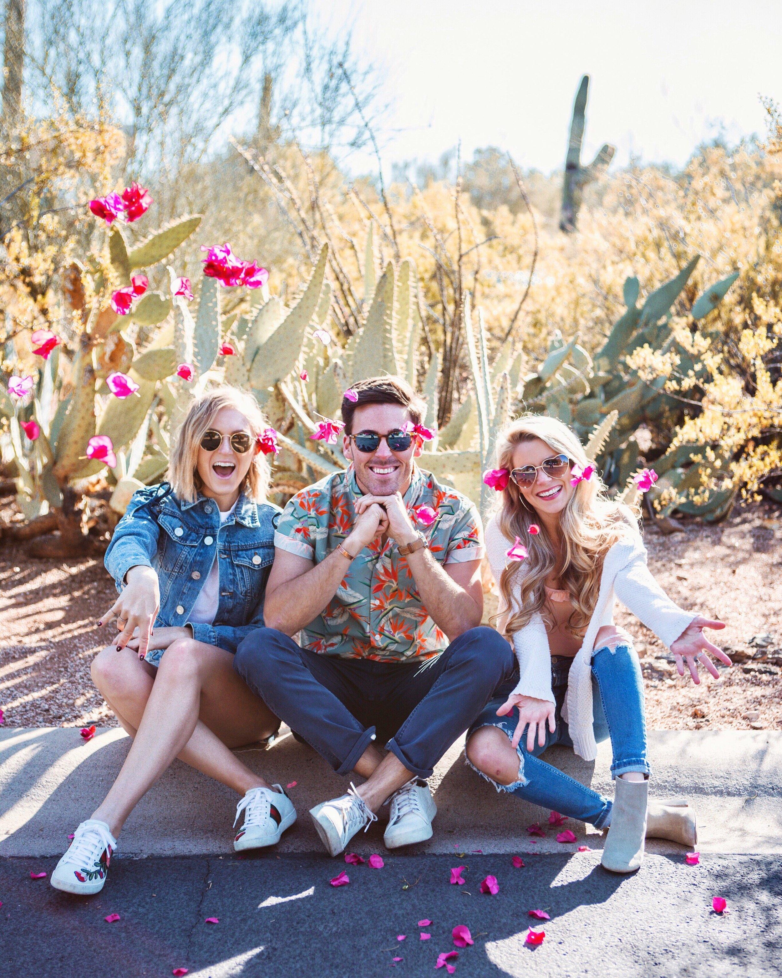 throwing flowers desert arizona
