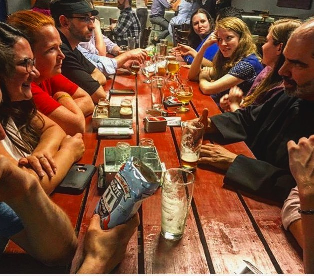 Our first night in DC was such a hit! So we'll be back next week for some more brews! We're busy this week across the country so now that everyone's back on social media after Lent, check back here to find out where we're headed! #noagendas #catholicbeerclub #cbcwashingtondc #cbcphoenix #cbcdesmoines #cbcdallas #cbcfargo #cbchonolulu 📷cred: @jamesvgrimaldi