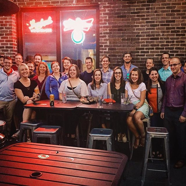 What a good looking gang! #catholicbeerclub #cbcdesmoines #beer #catholic #noagendas @300_craftandrooftop