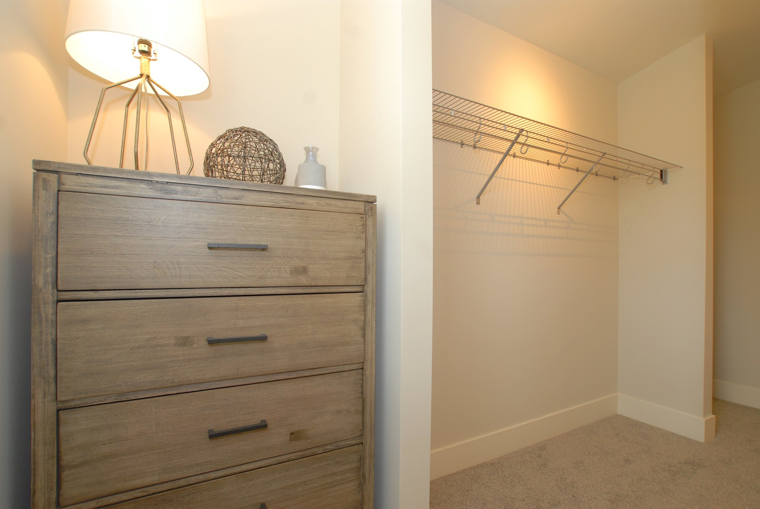 Thoughtfully designed Master walk-in closet