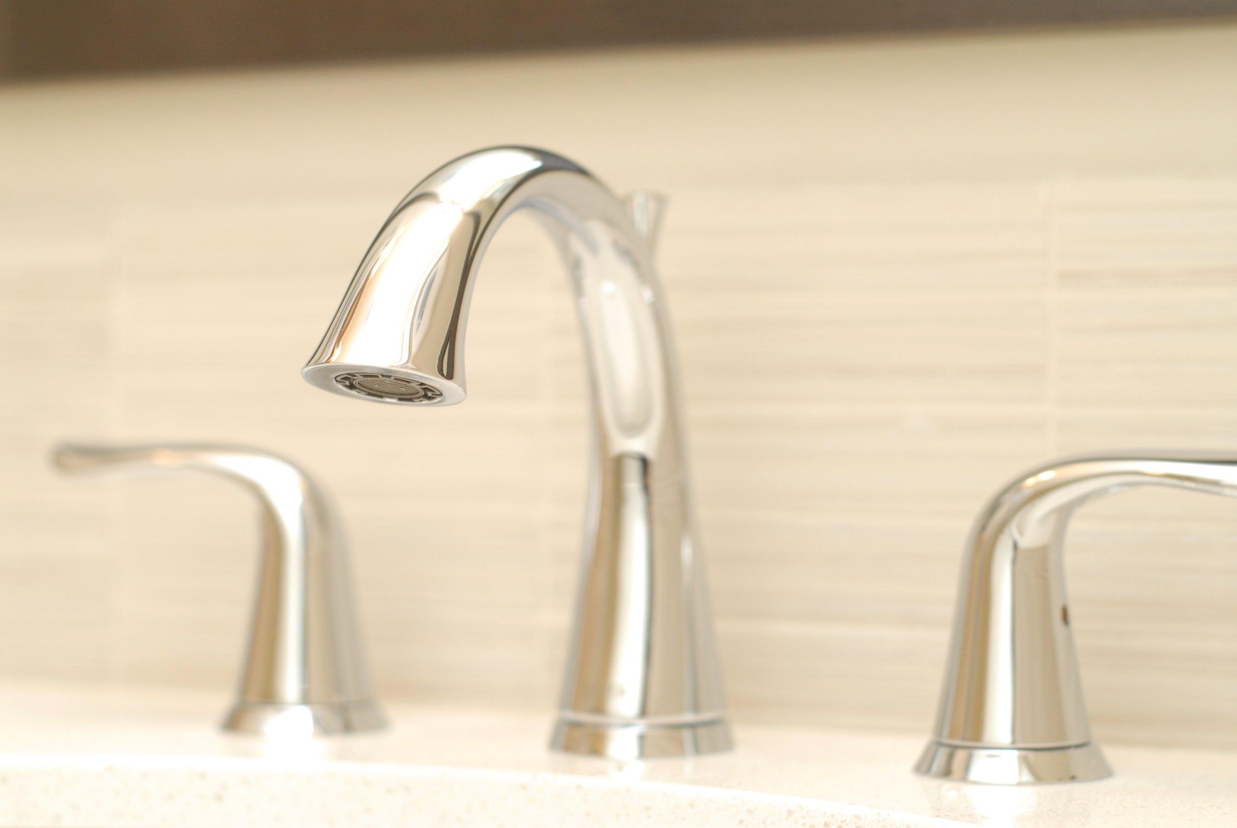 Lustrous Delta chrome faucet