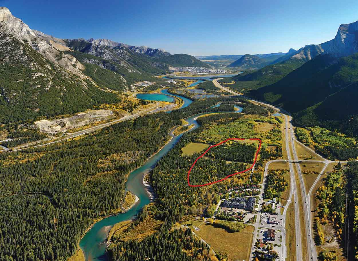 A short walk to the Bow River