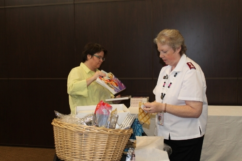 Kudos to Major Martha Davey for her invaluable help in coordinating all the events at the Salvation Army Shelter for the families.