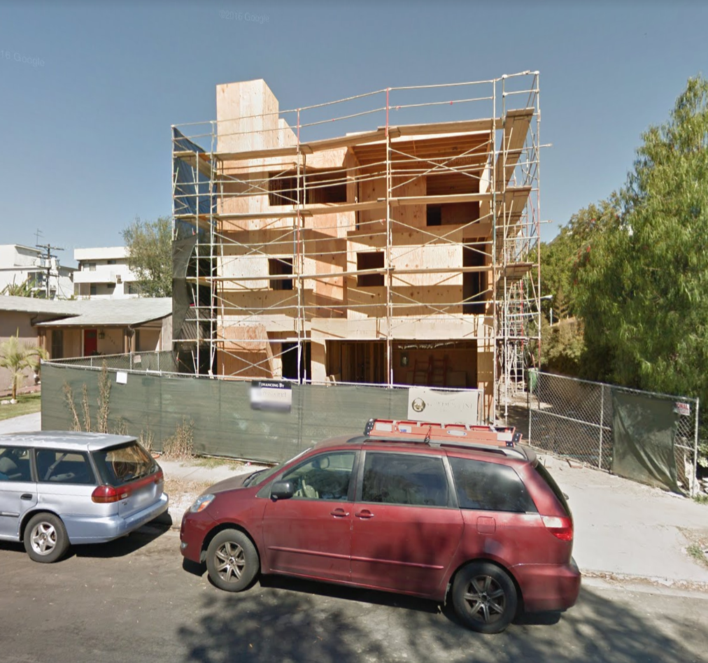 """PROPOSED PROJECT: The subdivision of one lot for a three-story duplex development containing two (2) condominium units, with four (4) parking spaces in attached garages and two (2) additional guest parking spaces.   REQUESTED ACTION(S): 1. Pursuant to California Environmental Quality Act (""""CEQA"""") Guidelines, an Exemption from CEQA pursuant to State CEQA Guidelines Article 19, Section 15315, Class 15, and City CEQA Guidelines Article III, Section I, Class 15, that there is no substantial evidence demonstrating that an exception to a categorical exemption pursuant to CEQA Guidelines, Section 15300.2 applies 2. Pursuant to Section 17.50 of the Los Angeles Municipal Code (LAMC), a Parcel Map to permit the subdivision of an existing 5,996 square-foot lot in the R2-1 Zone.  Case No.: AA-2017-355-PMLA  CEQA No.: ENV-2017-356-CE  Date: September 13, 2017 Plan Area: West Los Angeles Time 9:30 a.m.  Los Angeles City Hall Room 1020 200 N. Spring St. Los Angeles, CA 90012 (Please use the 201 N. Main Street entrance)   DOWNLOAD THE COMPLETE PDF"""