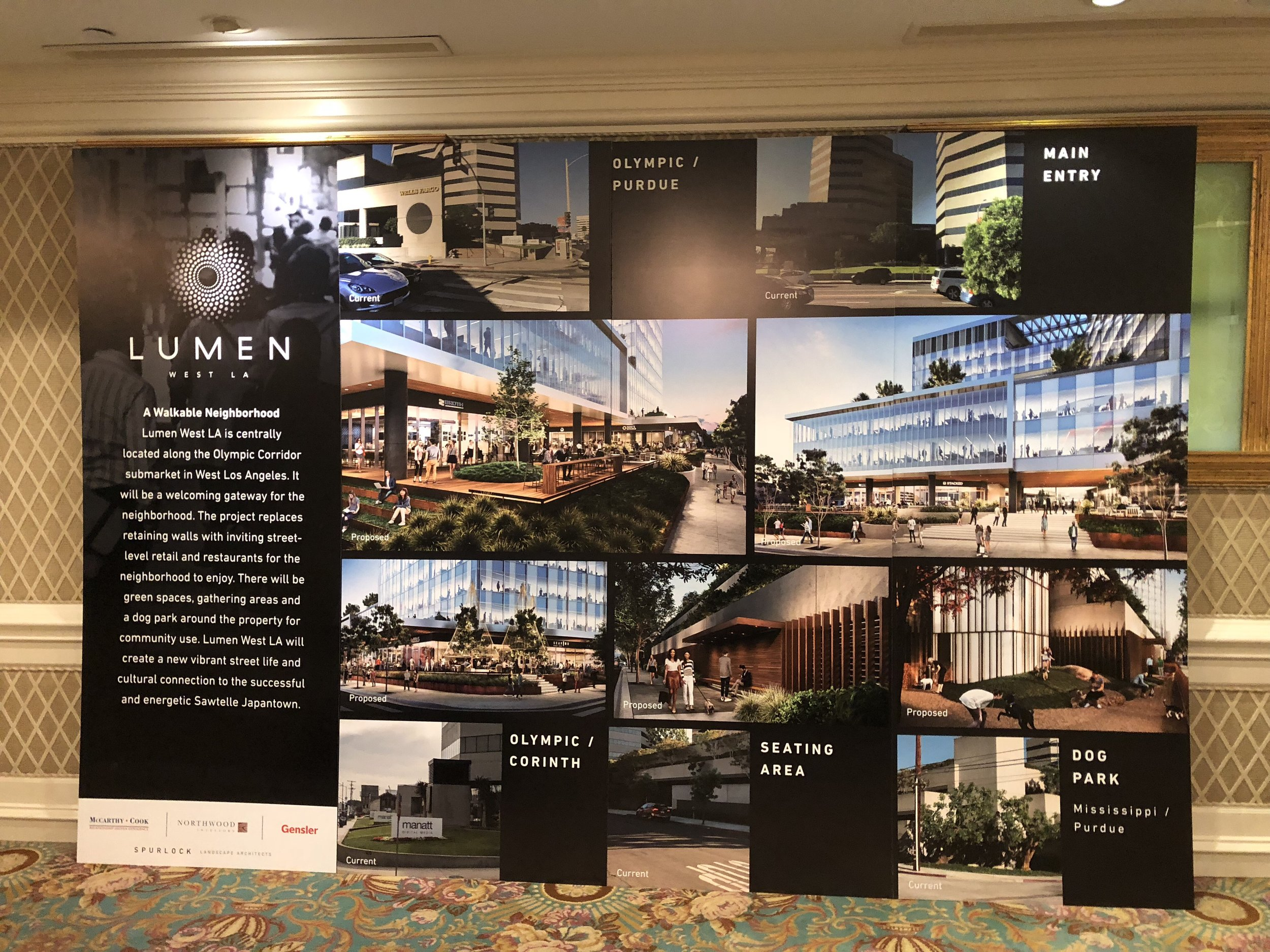 This photos shows the projected new ideas along with the existing areas.