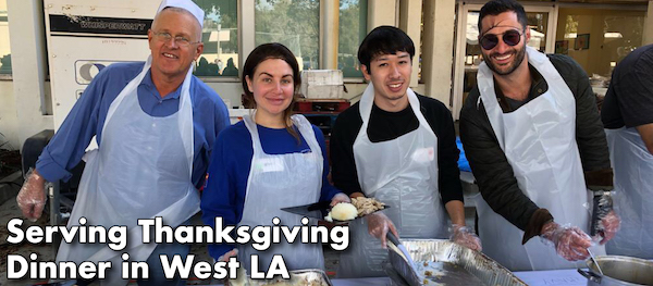 Mike enjoyed spending part of the Thanksgiving holiday at the annual Westside Thanksgiving Celebration outside his West LA district office. This is the 36th year that volunteers have been feeding, clothing and caring for neighbors at the annual event. In addition to a fantastic holiday dinner, the event also provides free haircuts, blankets, hygiene kits, medical, optical, and dental services, vaccinations, a resource fair, and a children's carnival. Thanks to the hundreds of volunteers who made this important community event possible!