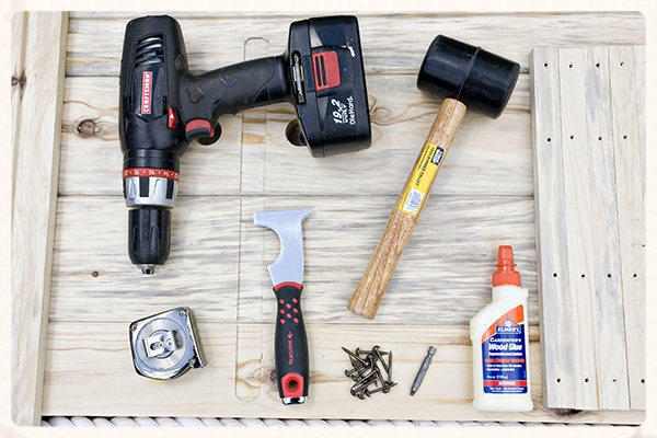 You will need a few common household tools.