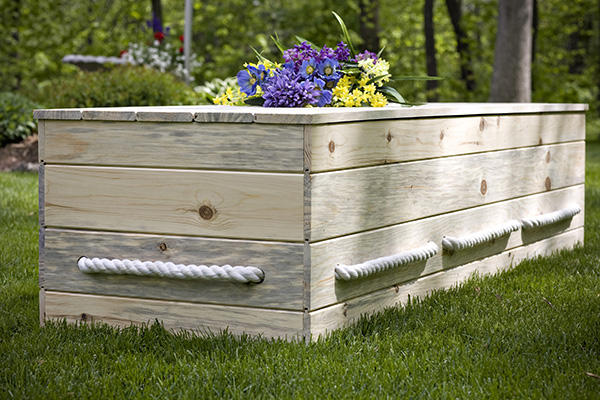 You made this!  A sustainable, earth-friendly, natural burial casket.