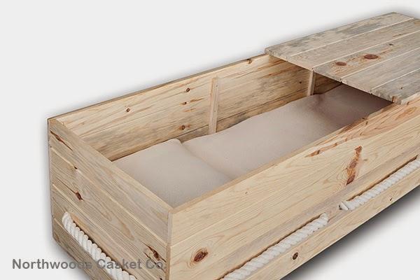 Natural cotton monk's cloth casket liner.