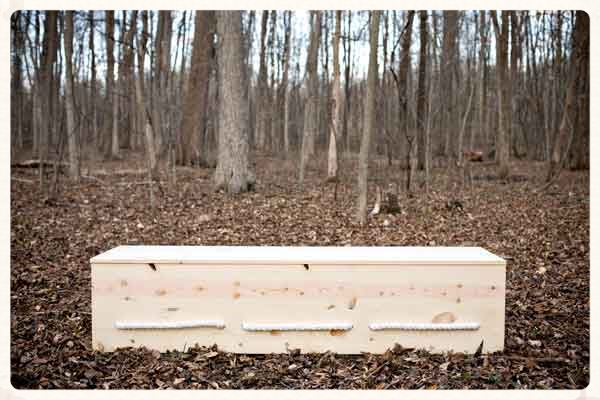 Follow these casket building plans to make the rectangular, simple pine box shown here.