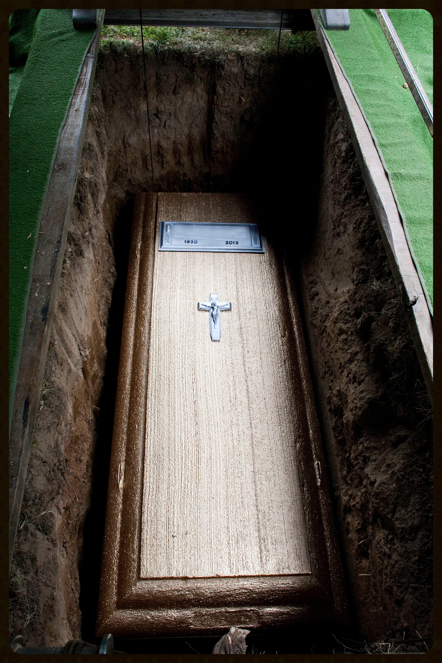 Concrete burial vaults are not required by law.