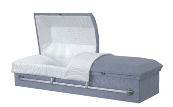 Most funeral homes offer an inexpensive cloth covered particle board casket at prices less than $800.