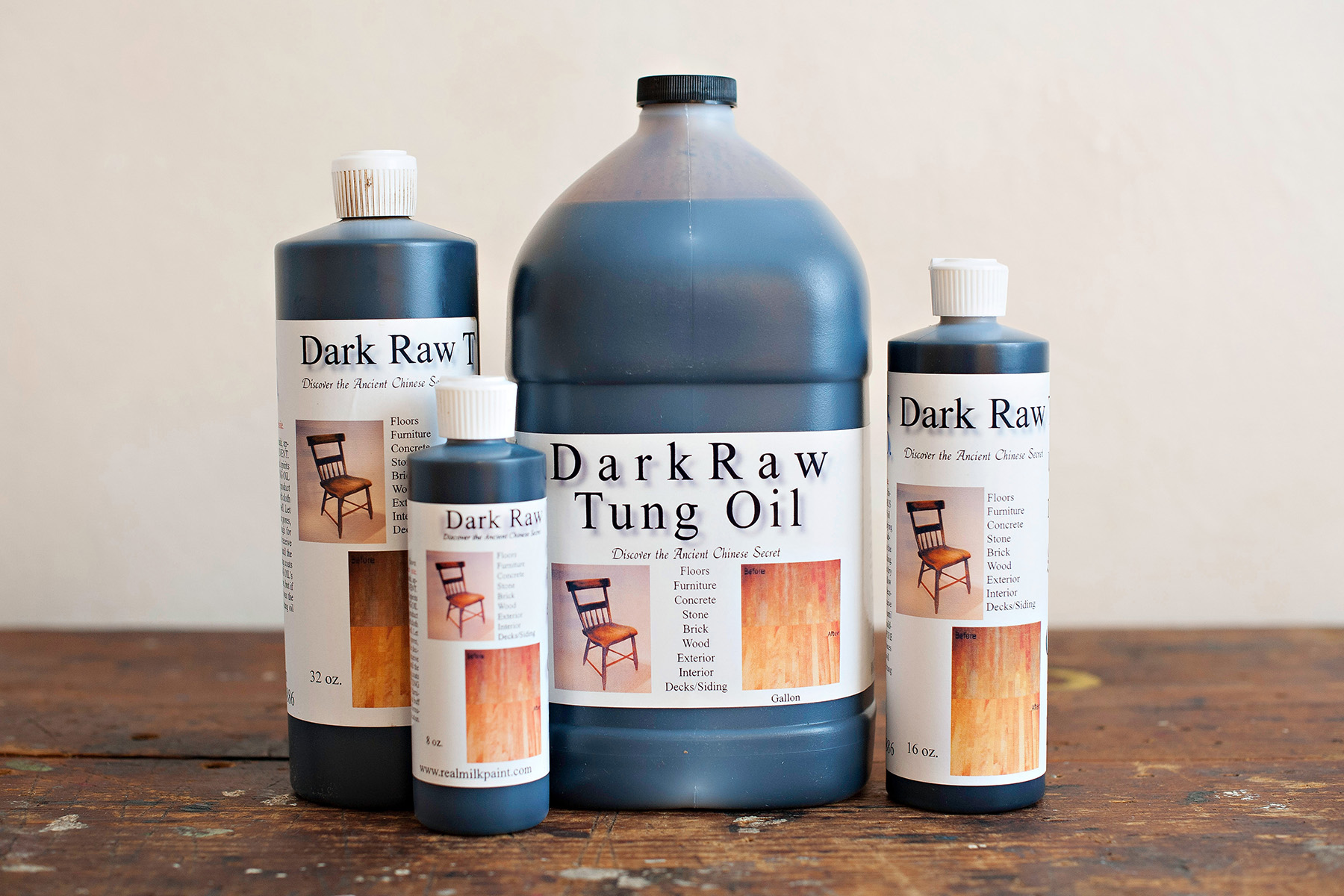Dark Raw Tung Oil - Our favorite wood finish!