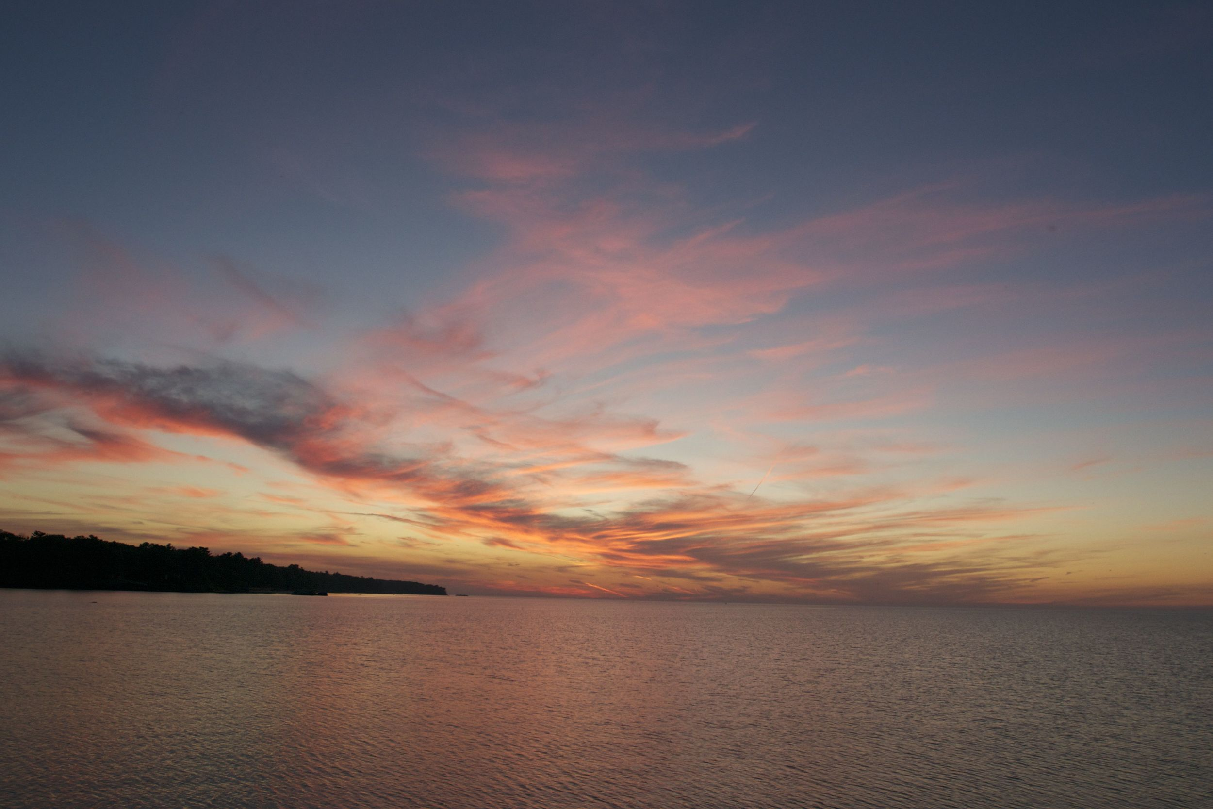 Sunset over Port Austin