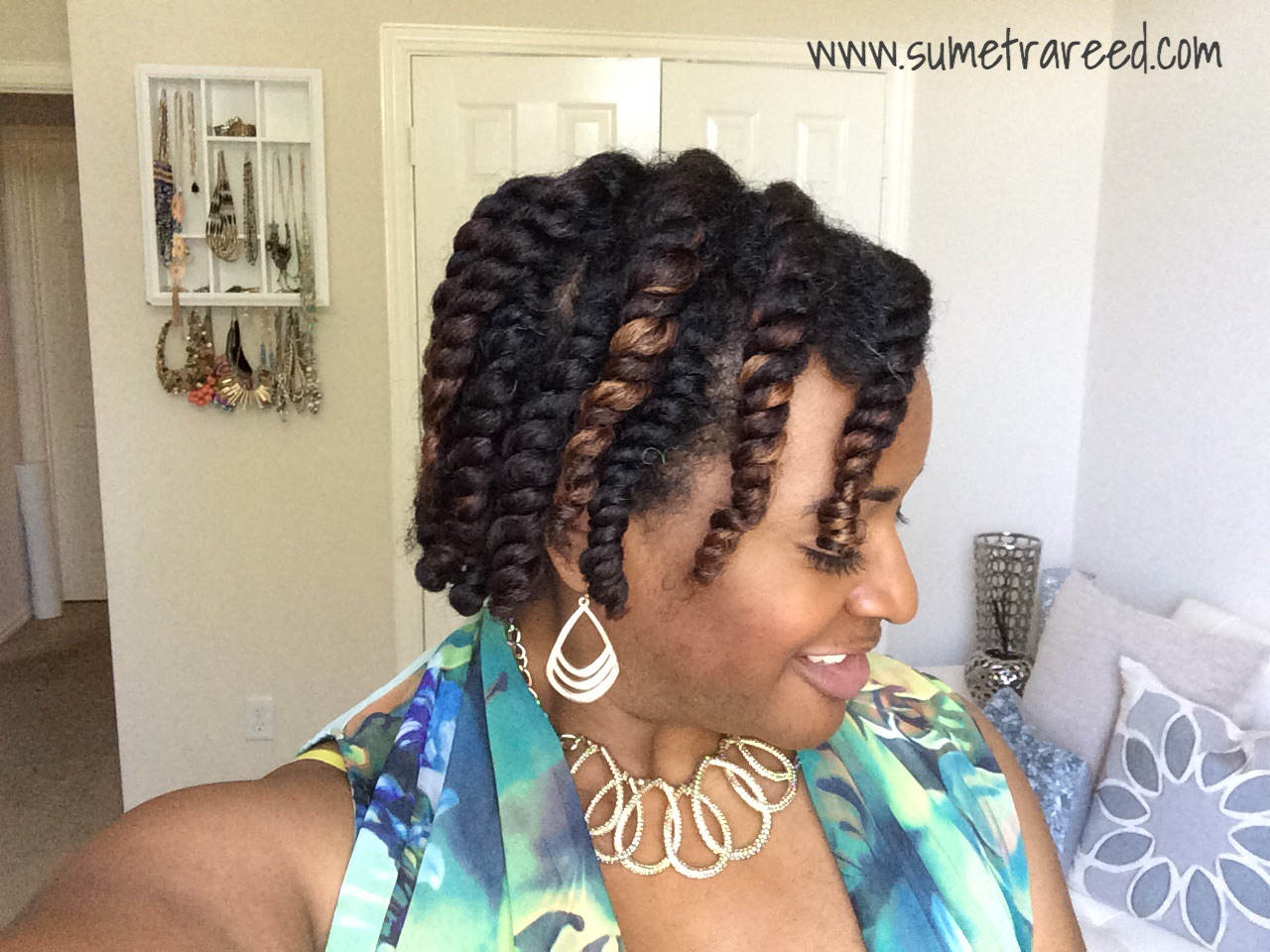 Flat twists after washing and conditioning with TGIN