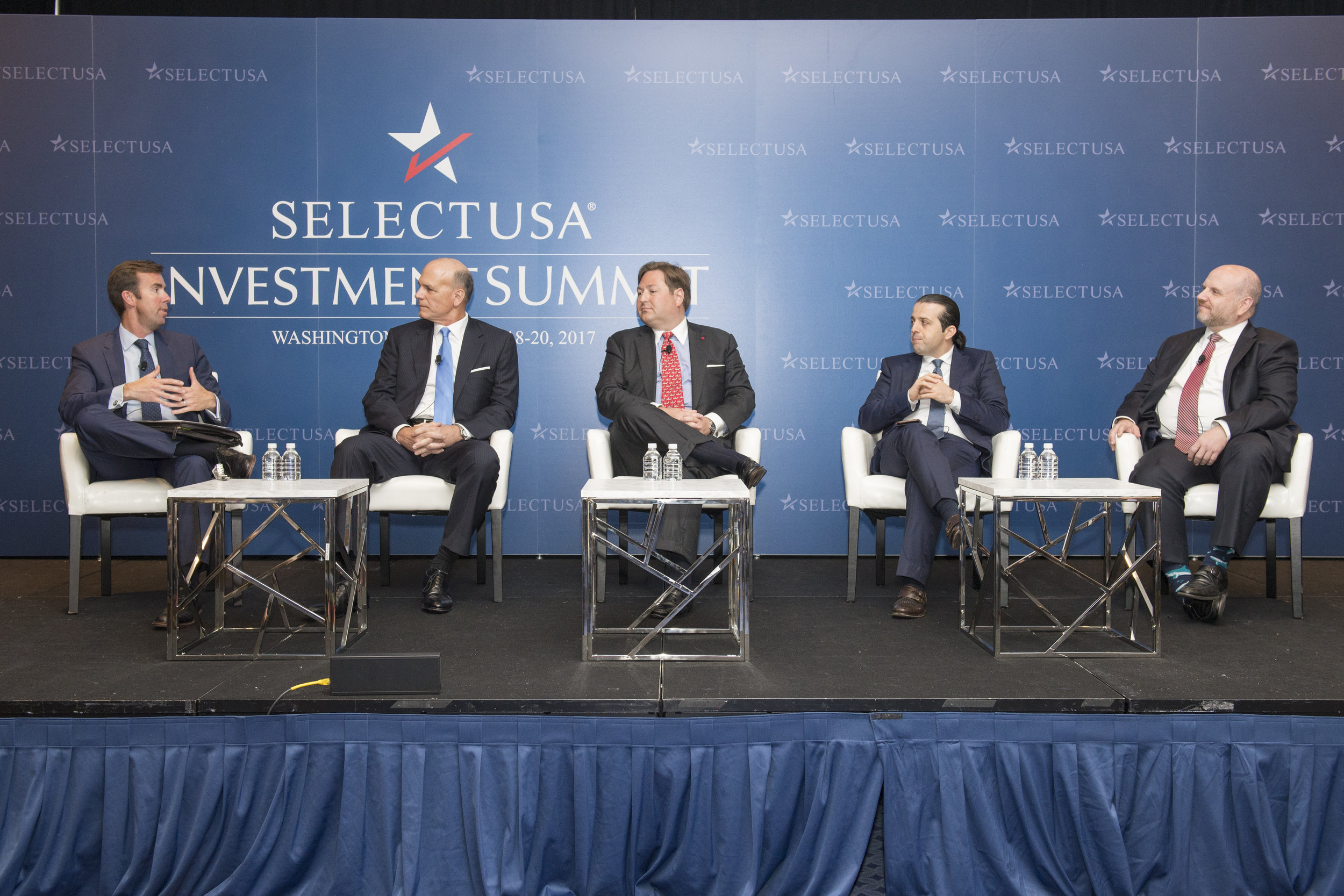 "Gary Spulak, Louis ""Tripp"" Hornick III, Cagri Seymen and Buddy Rizer at 2017 SelectUSA Investment Summit.  Photo Credit: U.S. Department of Commerce"