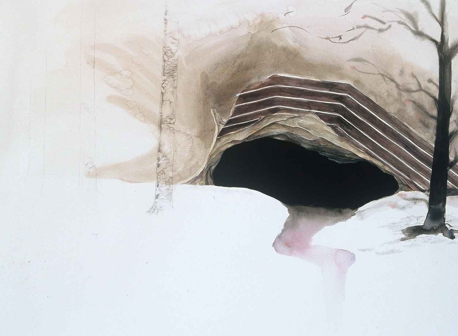 """""""Echo,"""" Watercolor, Gouache, and Graphite on Paper, 36"""" x 48"""" 2003"""