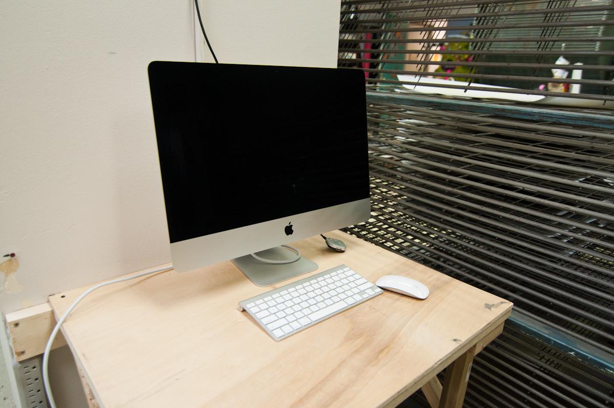 New iMac for preparing and printing artwork and transparencies
