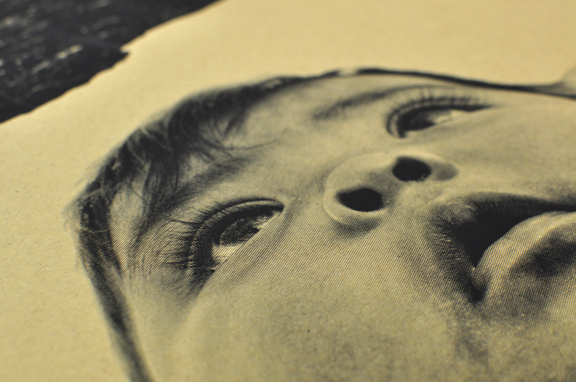 detail of a halftone screen printed photograph by  jetsonorama , a photographer we work with.