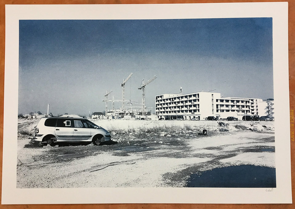 One of Gabriel's screen printed photographs