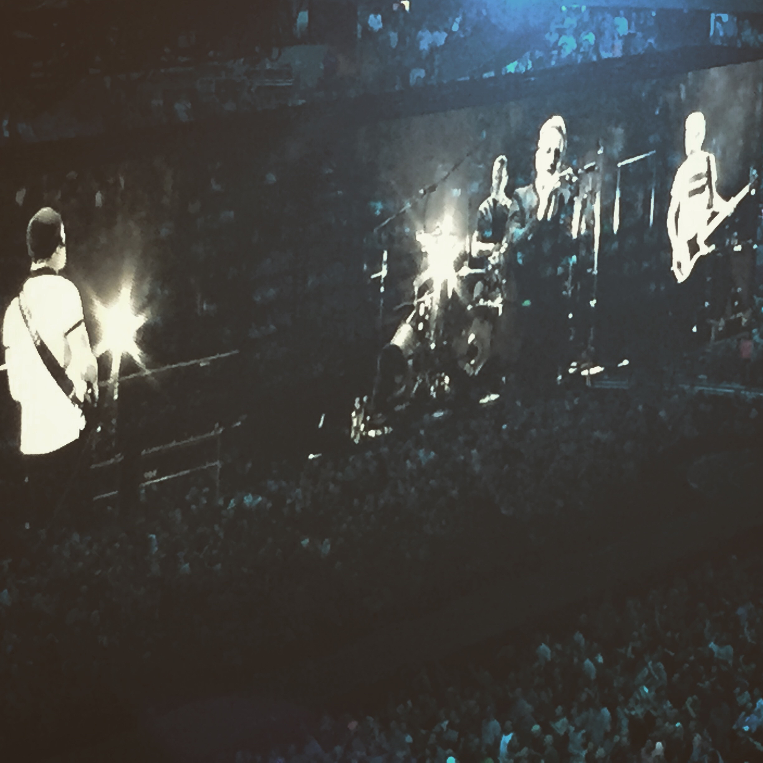 See you soon, boys! (Left to Right: The Edge, Larry Mullen Jr., Bono, and Adam Clayton) [Photo Credit: Farnaz Alimehri]