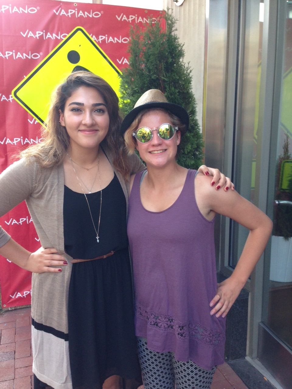 Left to Right: Farnaz Alimehri and Natalie Doggett