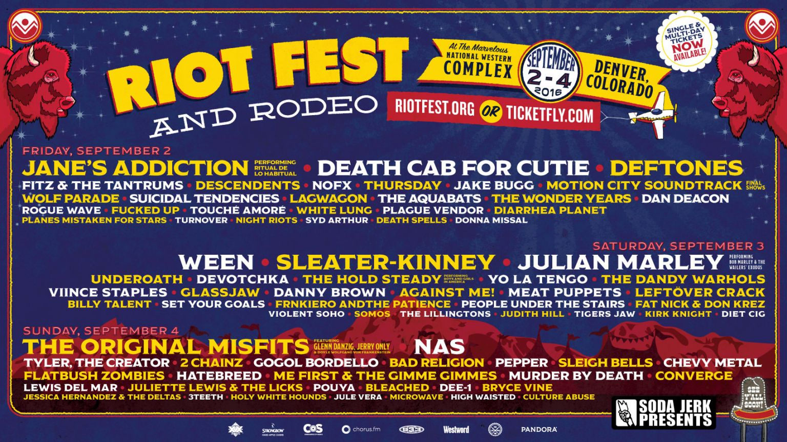 WOW! What a lineup! Riot Fest should be amazing this year, so keep it here for our concert coverage. Image Credit: http://riotfest.org/