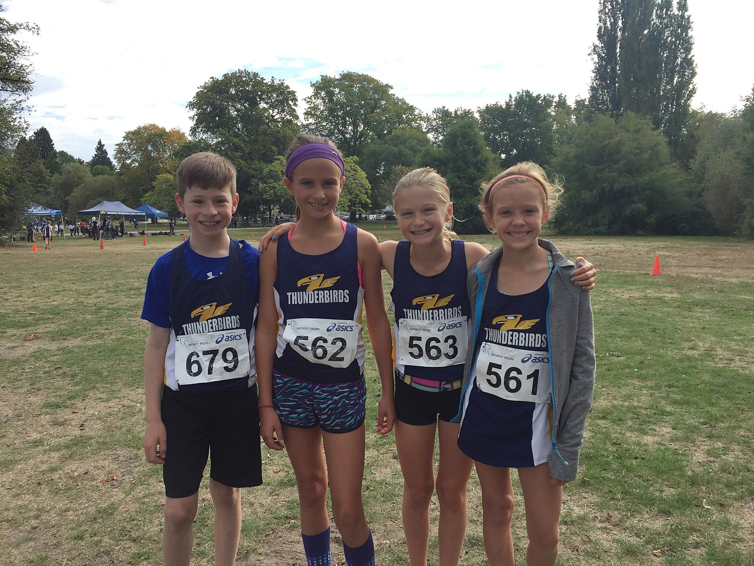 Thunderbird Athletes Griffin Cole, Gabriella Barton, Ruby Forsyth, and Kate Logan.